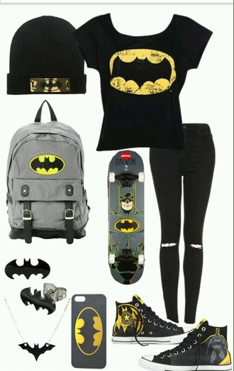 t-shirt batman bag