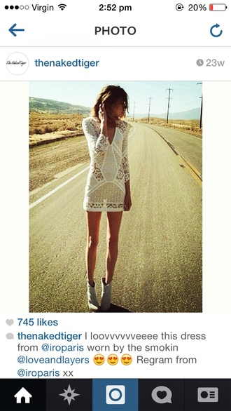 dress white lace long-sleeve long-sleeve dress