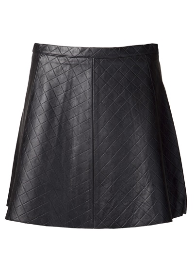 Love Leather Quilted Leather Skirt - Kirna Zabête - Farfetch.com