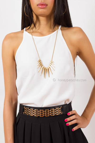 Indi Gold Necklace | Honey Peaches