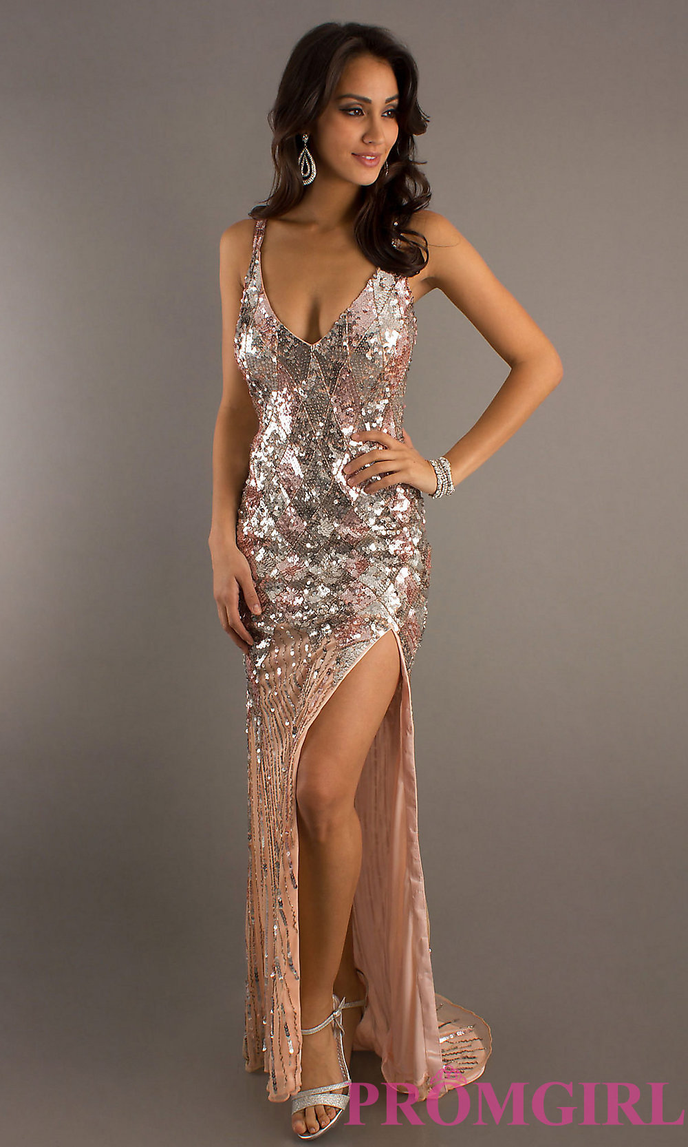 Gold Sequin Prom Dress Photo Album - Reikian