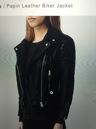 coat black leather