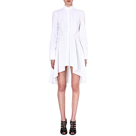 ALEXANDER MCQUEEN - Cotton fishtail shirtdress | Selfridges.com
