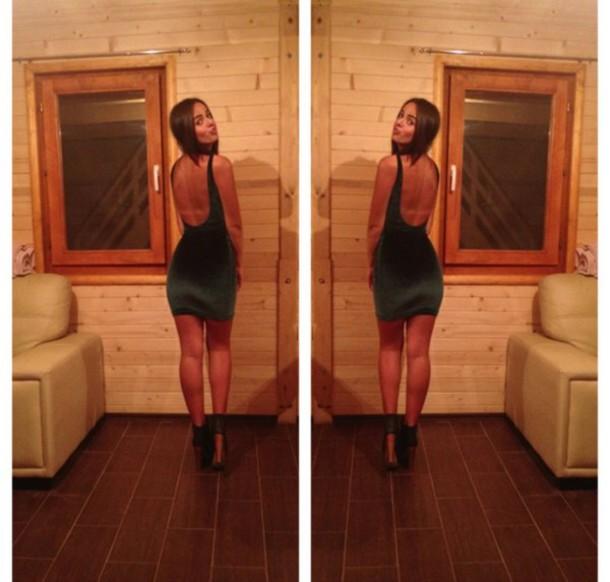 dress green dress shorts bodycon dress