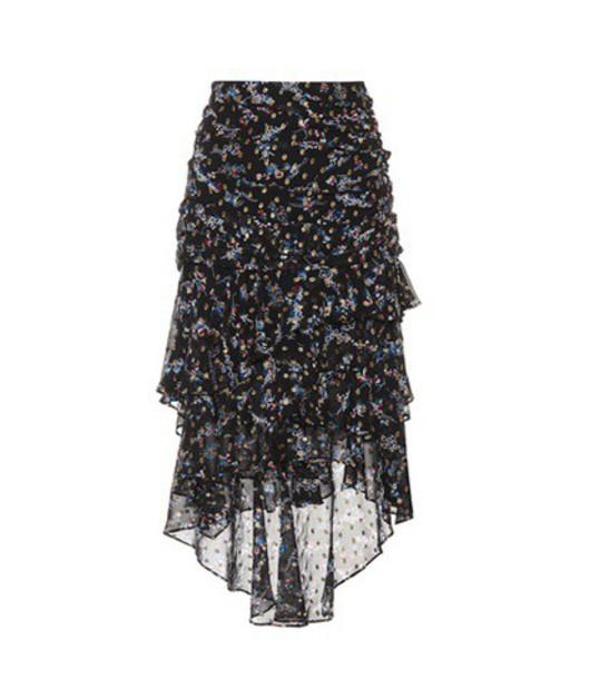 Veronica Beard skirt midi skirt midi silk black