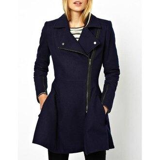 coat streetwear zip sailor winter coat rose wholesale