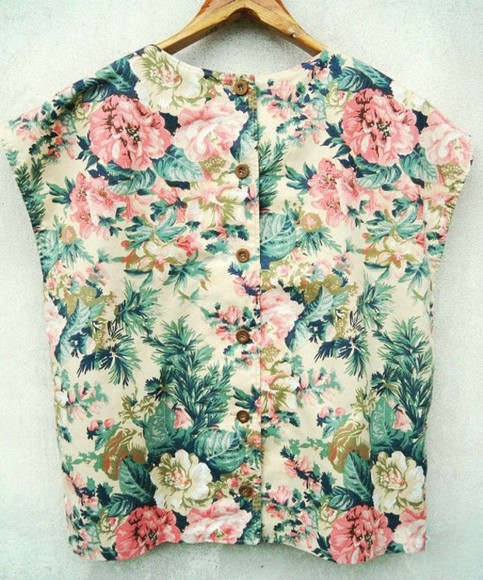 shirt sleeveless blouse floral prints button top floral sleeveless top floral top