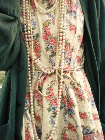 dress buttons cardigan floral beads
