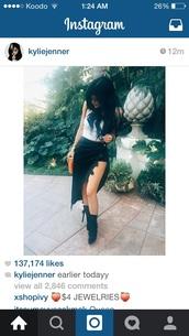 skirt,top,shoes,black,velvet skirt,skorts,kylie jenner,kardashians,black skirt,black heels