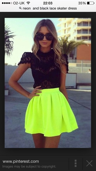 dress girls dresses neon lace