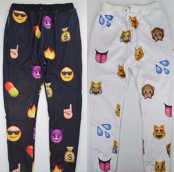 emoji pants jeans sweatpants pants