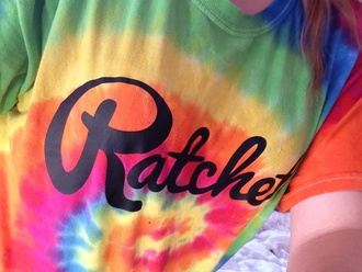 t-shirt tie dyed