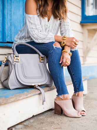 hauteofftherack blogger blouse leggings jeans shoes sunglasses bag jewels