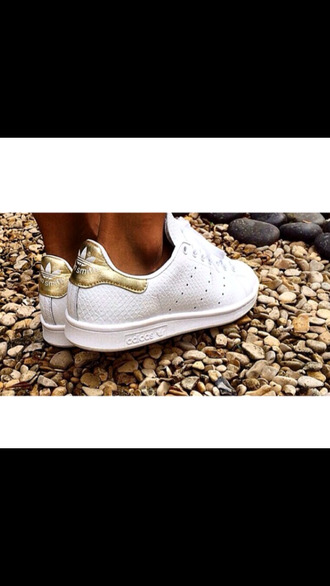 stan smith white gold snake leather beautiful shoes