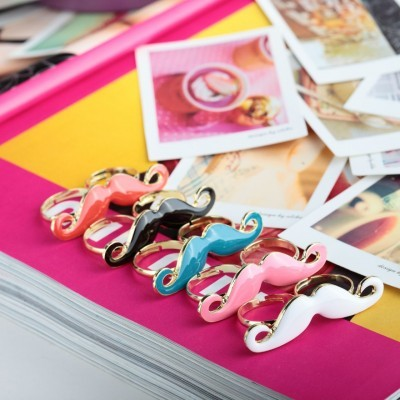 Kawaii Squishy Shop | Mustache Double Rings | Online Store Powered by Storenvy