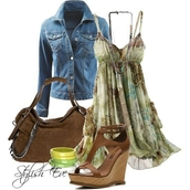 dress,green,floral,spaghetti strap