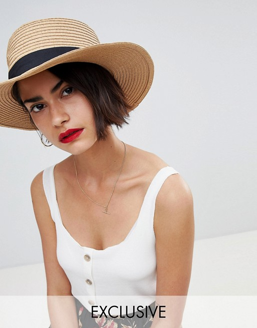 Warehouse Straw Sun Hat at asos.com