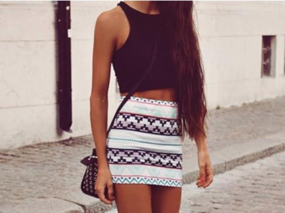 geometric skirt colours