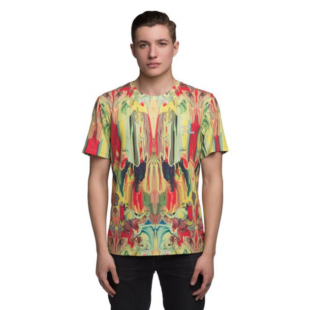 T shirt yellow all over print t shirt full print t for Get t shirt printed