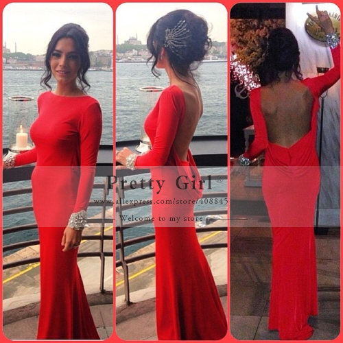 Aliexpress.com : buy 2014 new promotion freeshipping vestido de festa longo boutique long sleeves formal dress sexy open back mermaid evening pg118 from reliable dress underlay suppliers on pretty girl trade co., ltd