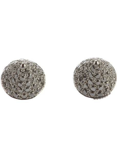 mini women earrings gold grey jewels