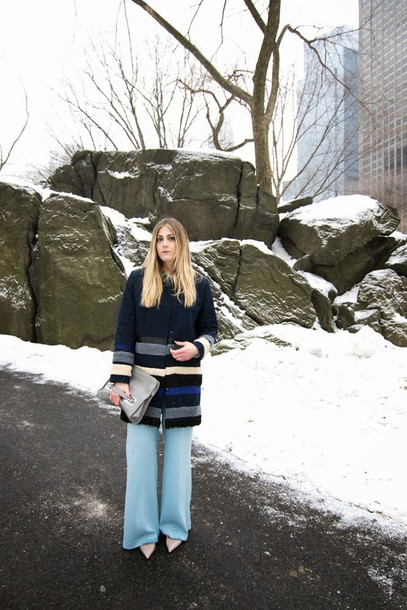 devon rachel blogger sweater pants coat shoes bag