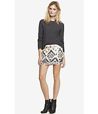 Sequin embellished mini skirt from express