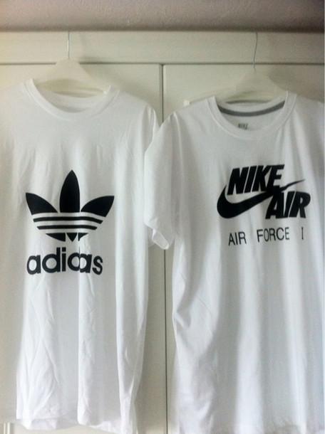 595a878f t-shirt, nike air, nike air force, adidas, white t-shirt, oversized ...