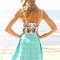Sabo skirt  tropical bird bustier - $38.00