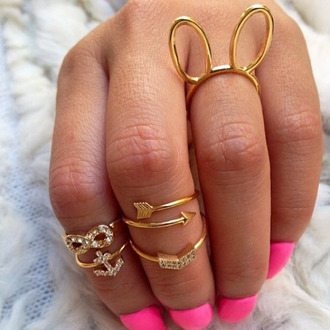 mask jewels bunny knuckle ring ring