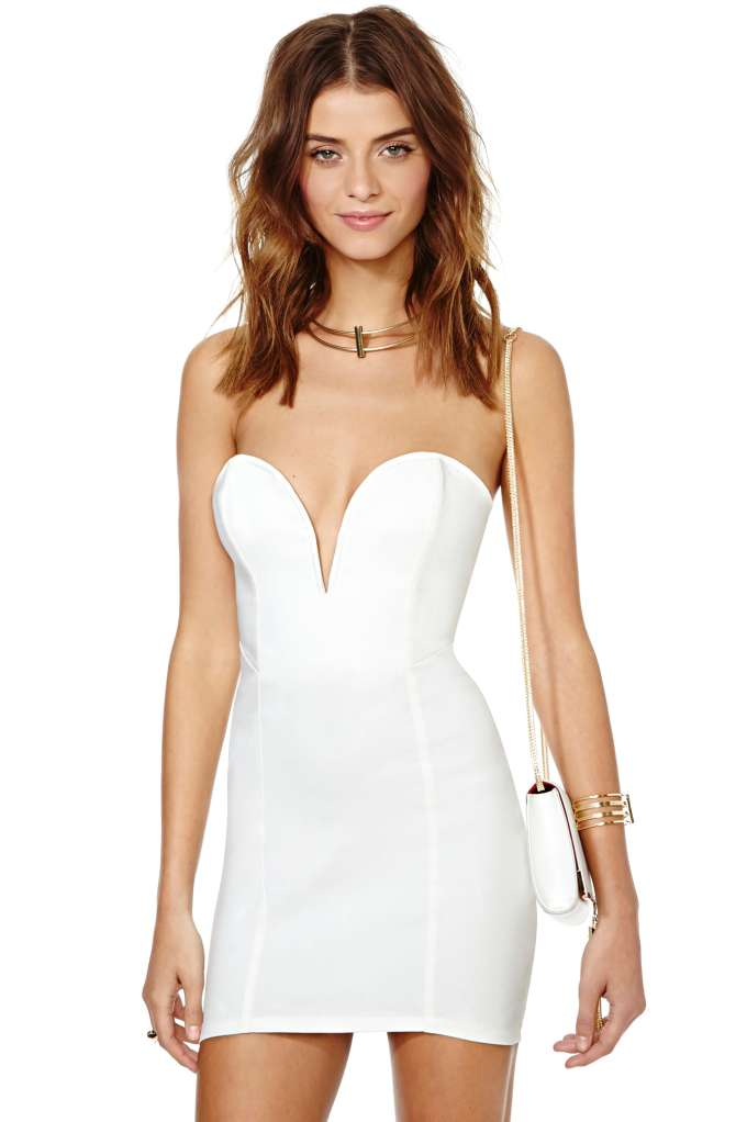 Nasty Gal Helix Dress - White | Shop Dresses at Nasty Gal