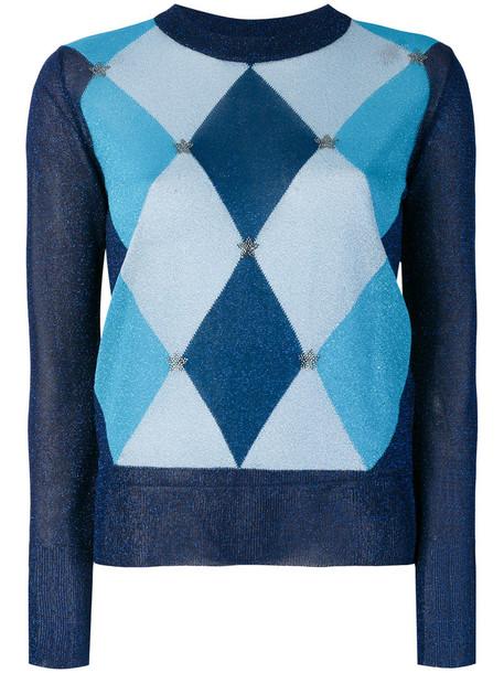 Twin-Set sweater knitted sweater metallic women blue