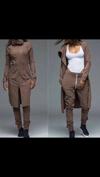 jacket joggers asymmetrical sweatpants oversized sweater