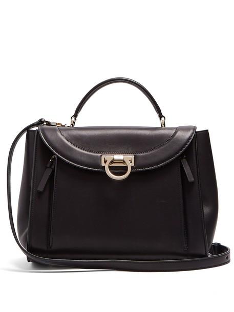 Salvatore Ferragamo rainbow bag leather bag leather gold black