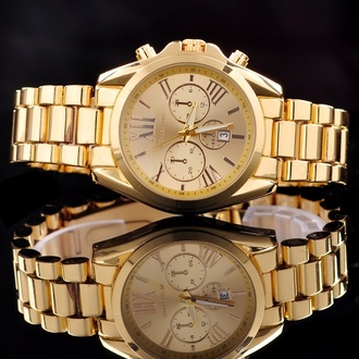 jewels watch menswear gold michael kors