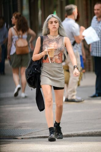 shirt earth tone silver nike skirt black lourdes leon boho fashion toast earthy