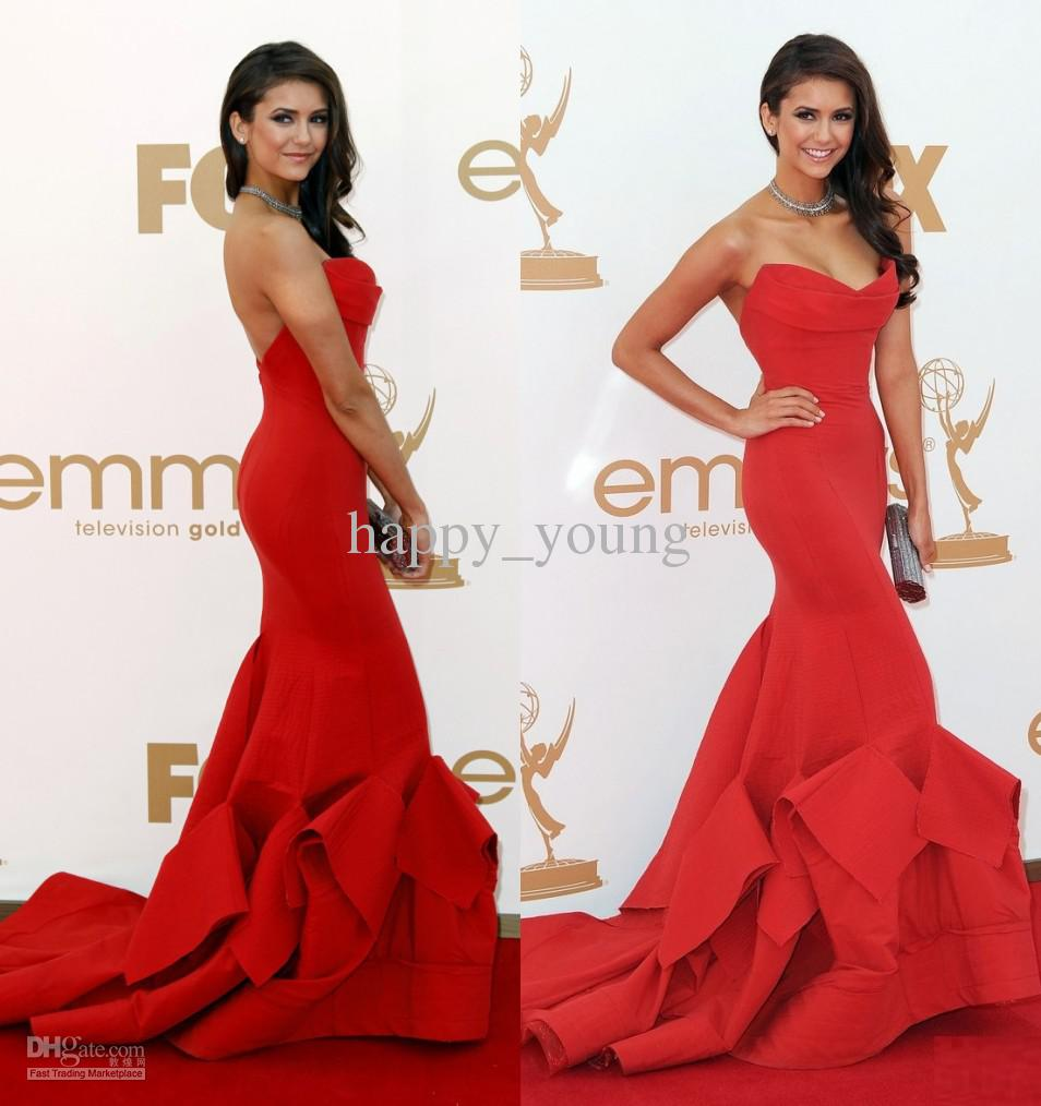 Cheap Mermaid Evening Dress - Discount Real Sample Sexy Red Nina Dobrev Mermaid Sweetheart Online with $93.26/Piece | DHgate
