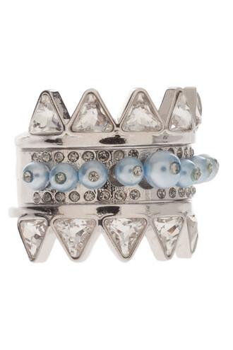 ring black silver jewels