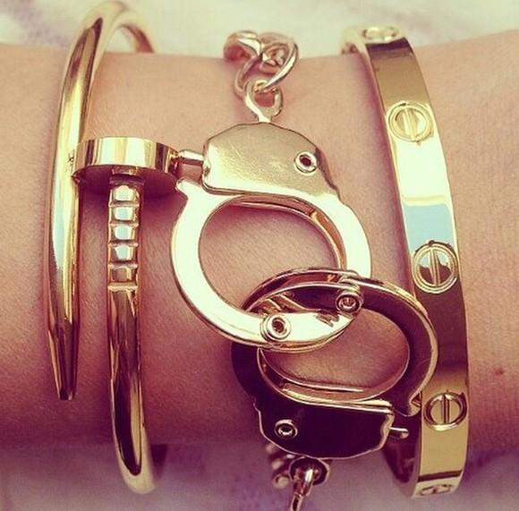 jewels cuff handcuff bracelet goregous