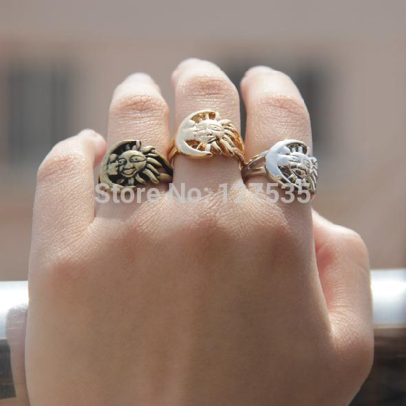 6pieces/lot fashion jewelry accessories simple design star and moon finger ring game of thrones a song of ice and fire
