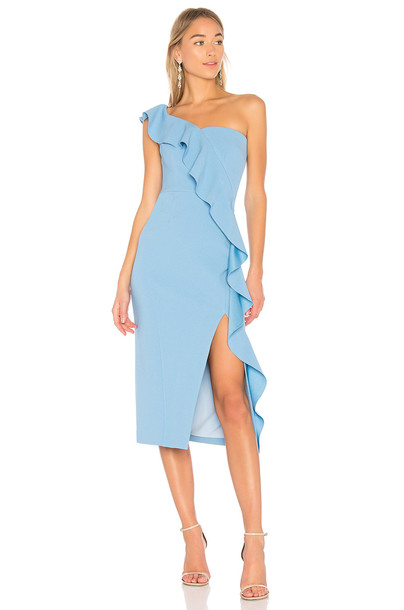 Rebecca Vallance dress midi dress midi blue