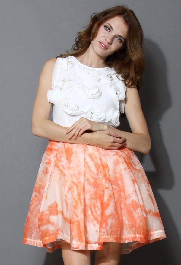 chicwish blossom sleeveless dress