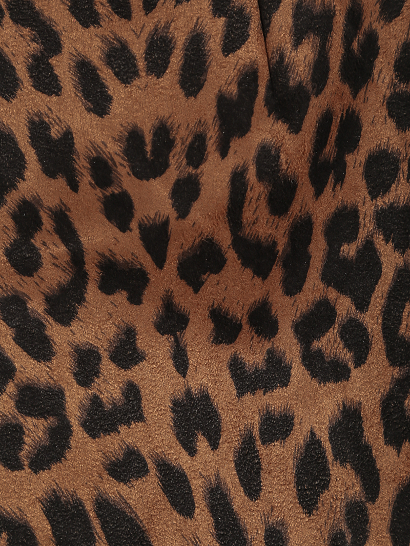 Leopard Zipper Straight Shorts - Sheinside.com