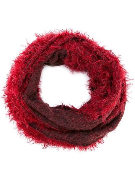 women scarf silk red