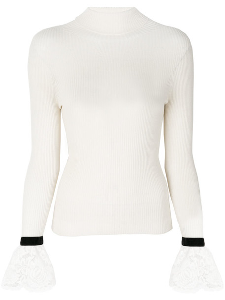 Philosophy di Lorenzo Serafini pullover women lace nude cotton wool sweater