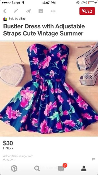 dress short dress floral dress blue dress