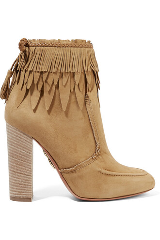 suede ankle boots tiger boots ankle boots leather suede beige shoes