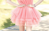 dress,drress,pink,love,cute,perfect,chiffon,chiffon dress,summer,light pink,mini dress,pink dress,pink mini dress,girly,style,kawaii,kawaii dress,jewels,silver