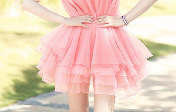 dress drress pink love cute perfect chiffon chiffon dress summer light pink mini dress pink dress pink mini dress girly style kawaii kawaii dress jewels silver