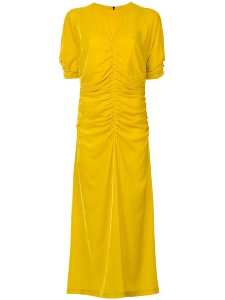 dress shirt dress t-shirt dress women silk yellow orange